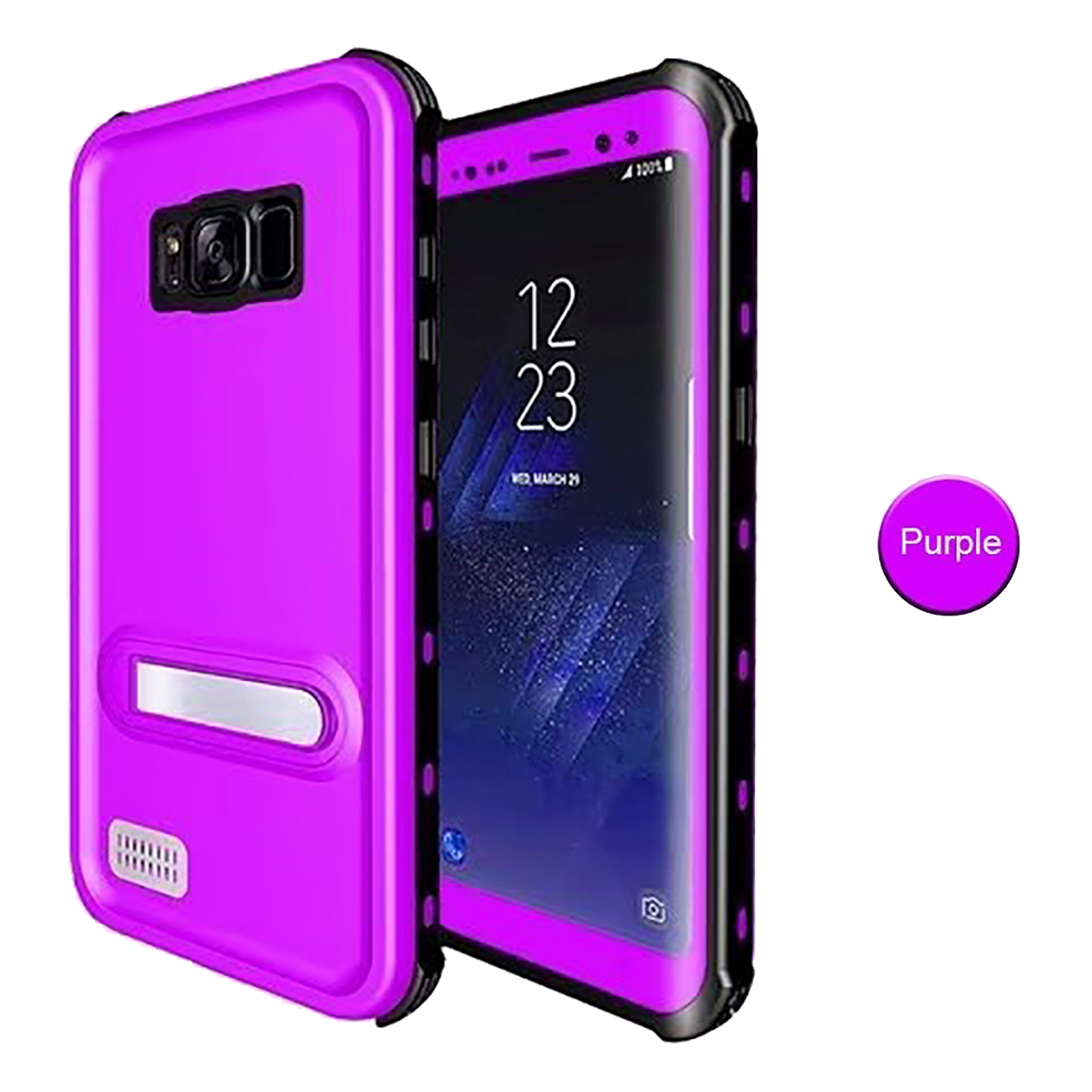 fr samsung galaxy s8 kickstand redpepper waterproof armor shockproof case cover ebay. Black Bedroom Furniture Sets. Home Design Ideas