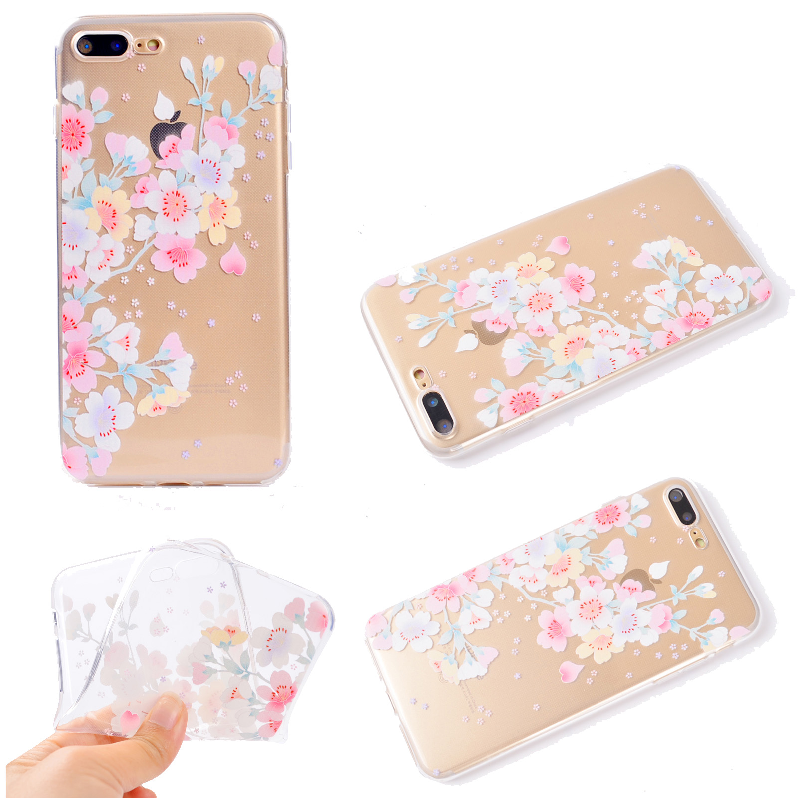 Squishy Case For Iphone 5s : Cute Painted Clear Slim Soft TPU Protective Case Cover For iPhone 5S 6S 7 Plus eBay