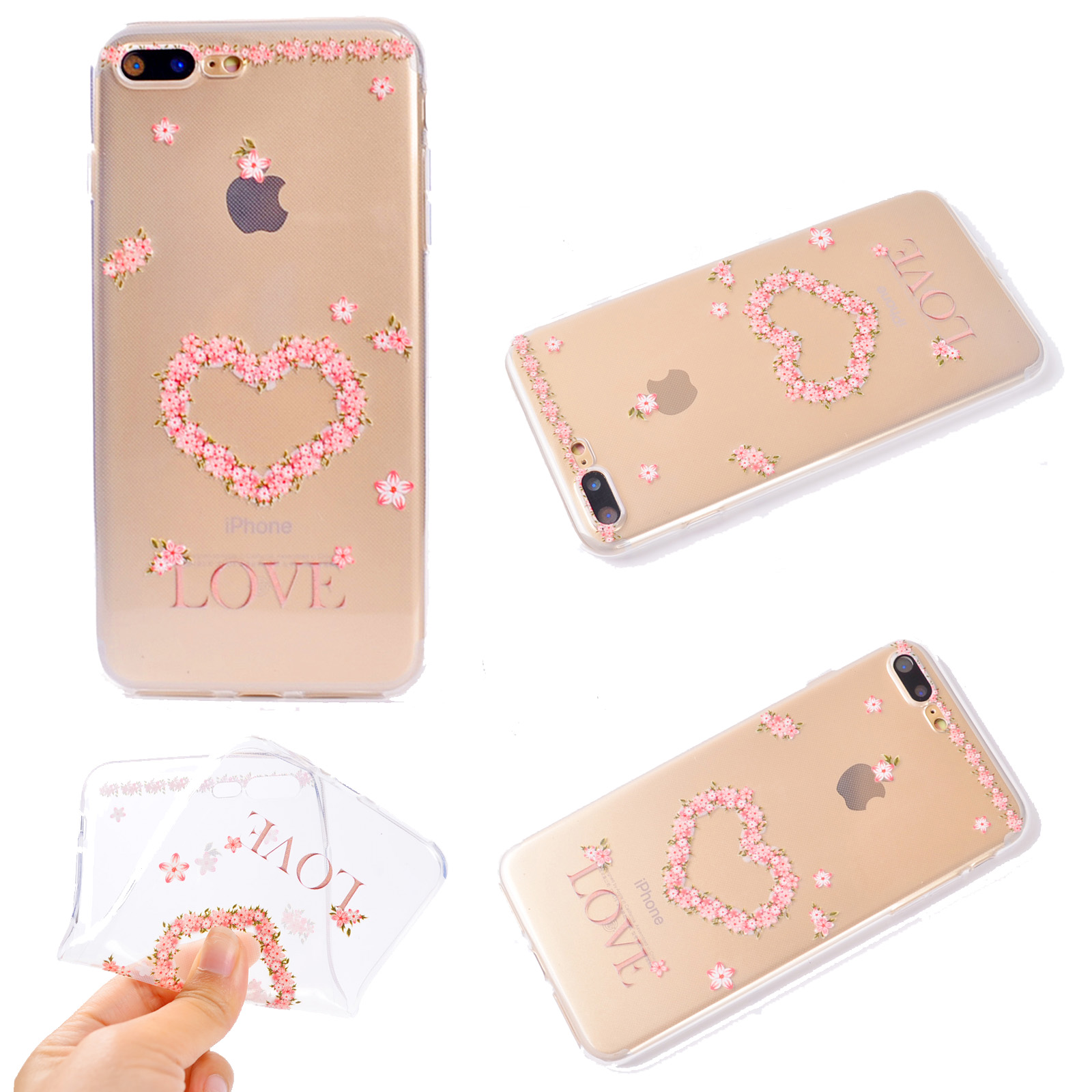 pretty iphone 5s cases painted clear slim soft tpu protective cover for 5835