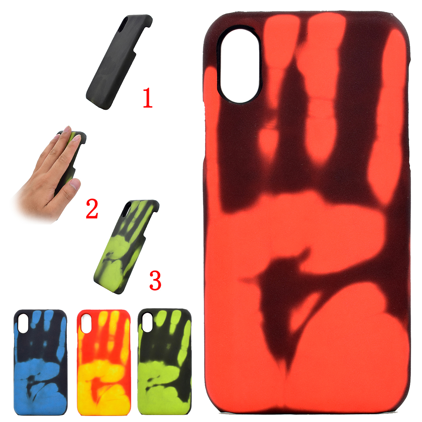Details about For iPhone XS XR 8/7/6 5 Thermal Heat Induction Creative Discoloration Back Case