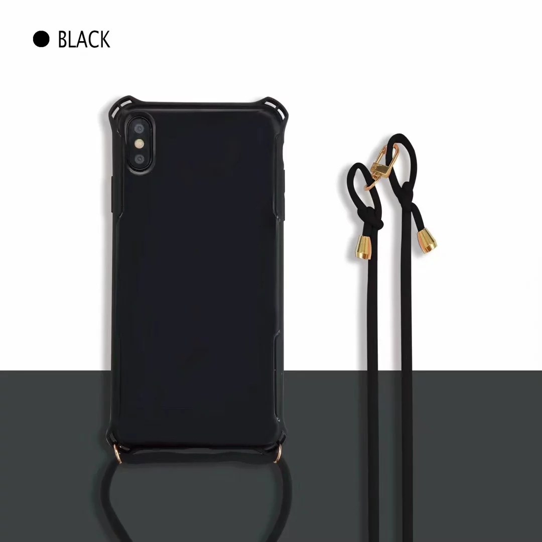 Shockproof-Soft-TPU-Shoulder-Cross-body-Strap-Back-Case-For-iPhone-XS-XR-8-7-6s thumbnail 20