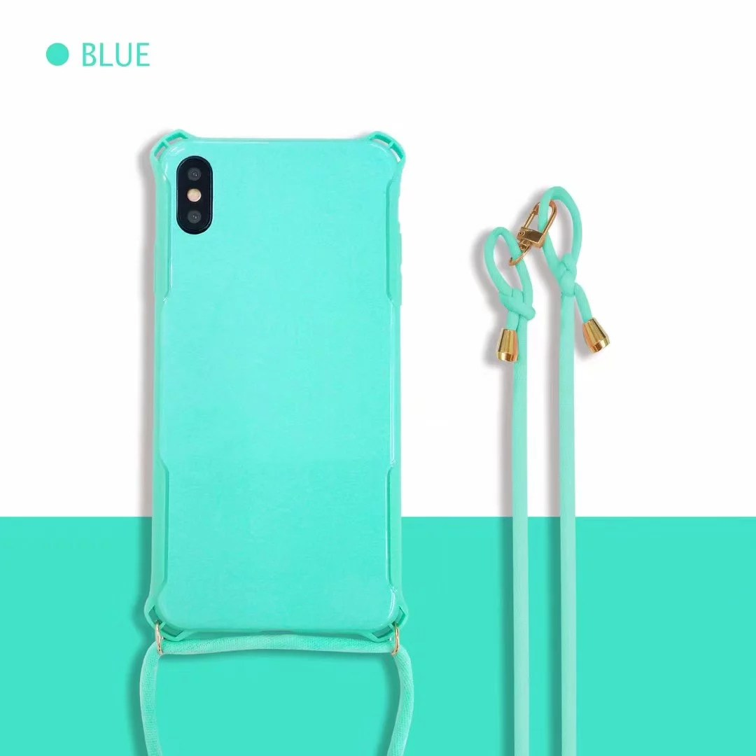 Shockproof-Soft-TPU-Shoulder-Cross-body-Strap-Back-Case-For-iPhone-XS-XR-8-7-6s thumbnail 15