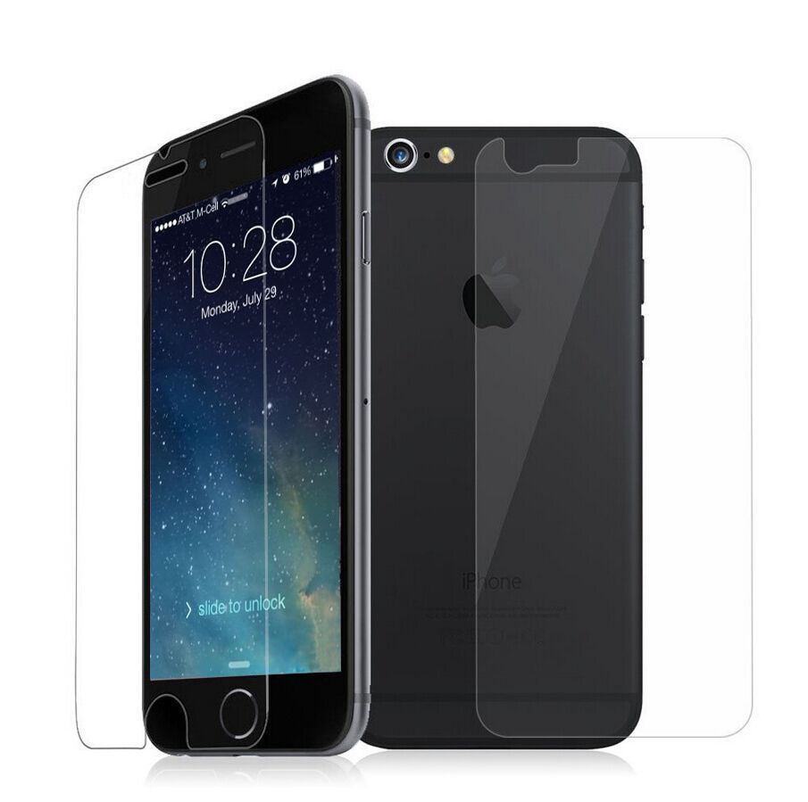 tempered glass screen protector protective film premium real for iphone 8 plus 7 ebay. Black Bedroom Furniture Sets. Home Design Ideas