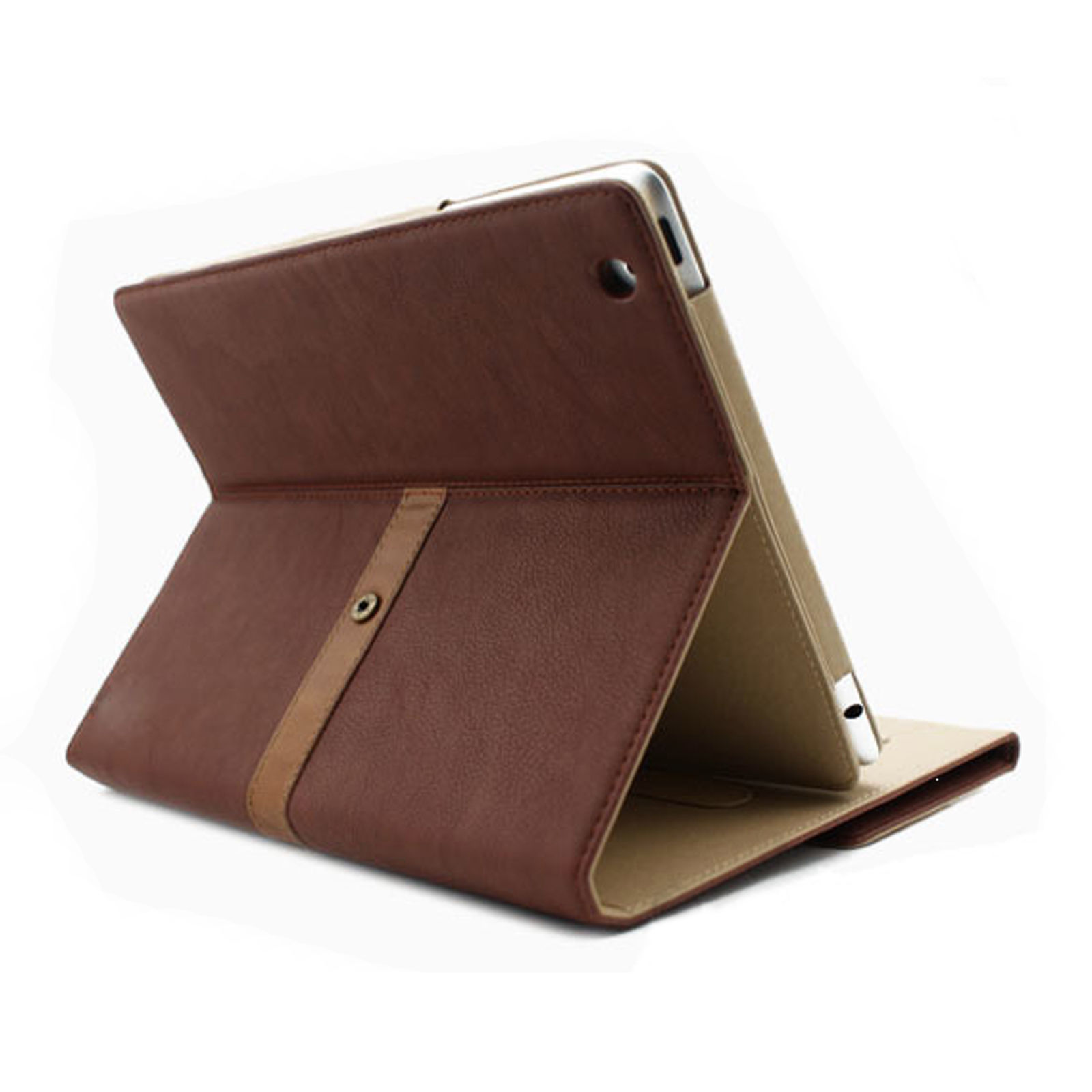 Vintage Book Cover For Ipad Air : Retro vintage buckle leather business smart case cover for
