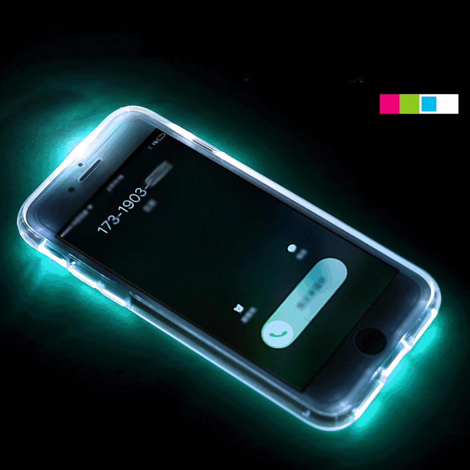 iphone led flash led flash light up remind incoming call shockproof cover 1212