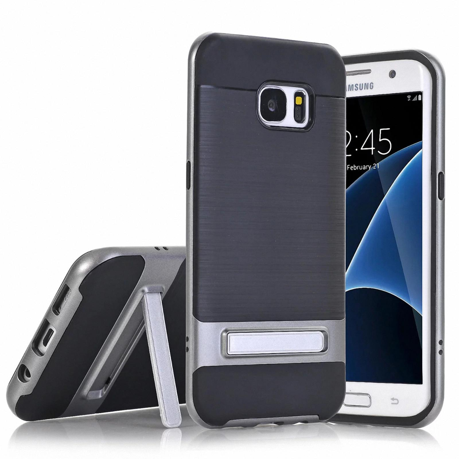 for samsung galaxy s7 s7 edge s8 shockproof rubber pc hard back case stand cover ebay. Black Bedroom Furniture Sets. Home Design Ideas