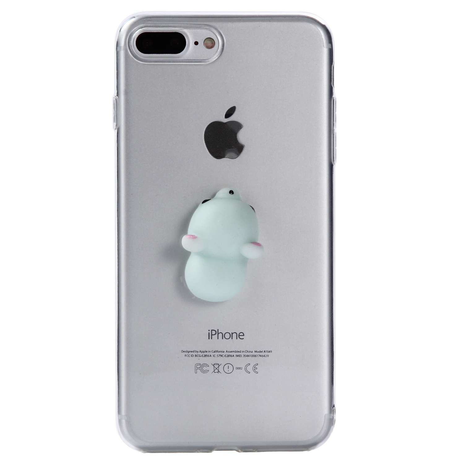 Squishy Case : Cute 3D Soft Squishy Animal TPU Soft Clear Back Case Cover For iPhone 5 6 7 8Pus eBay