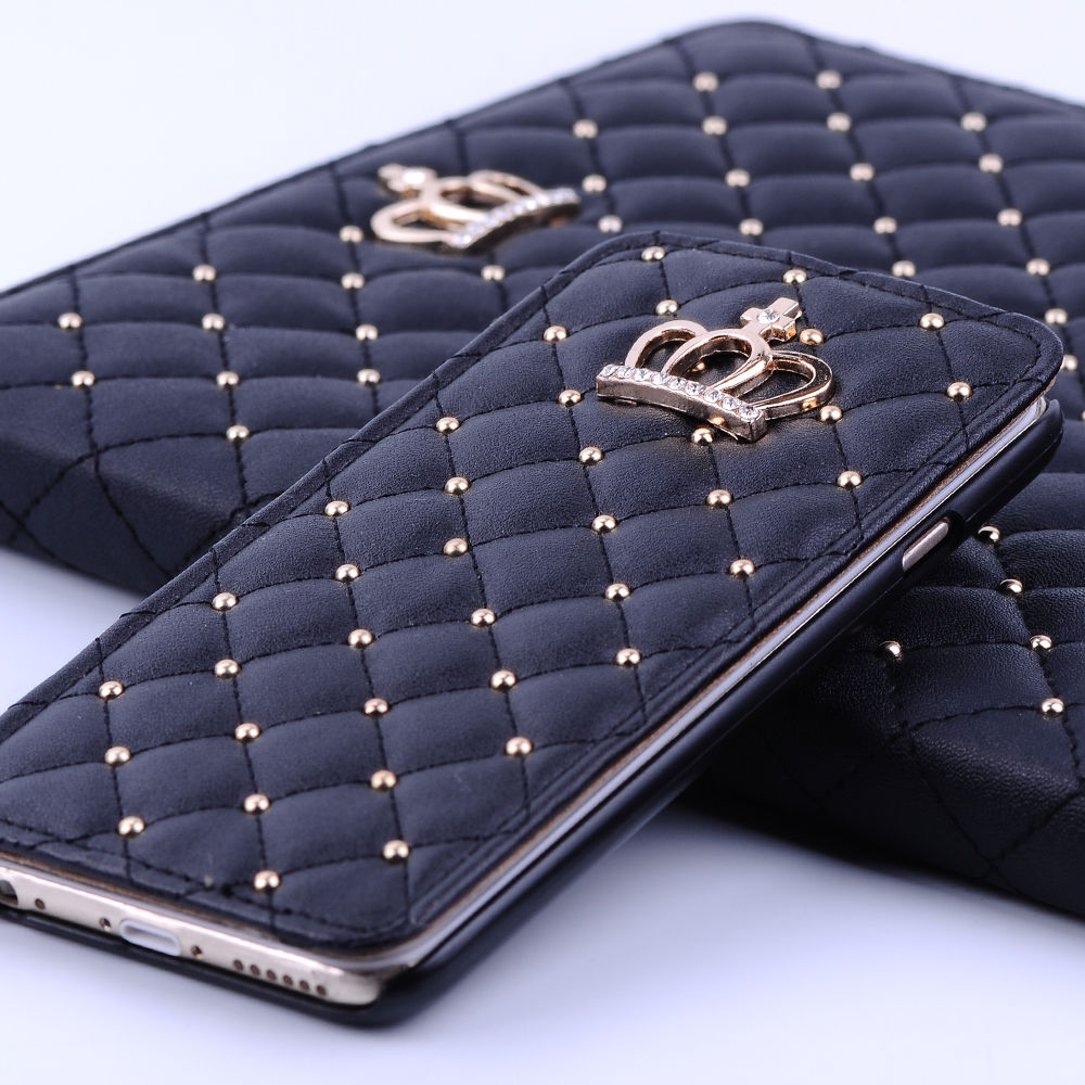 new product fc562 fb7b9 Details about Girly Bling Crown Wallet Card Flip Leather Cover Case For  iPhone 6s Plus / 6s