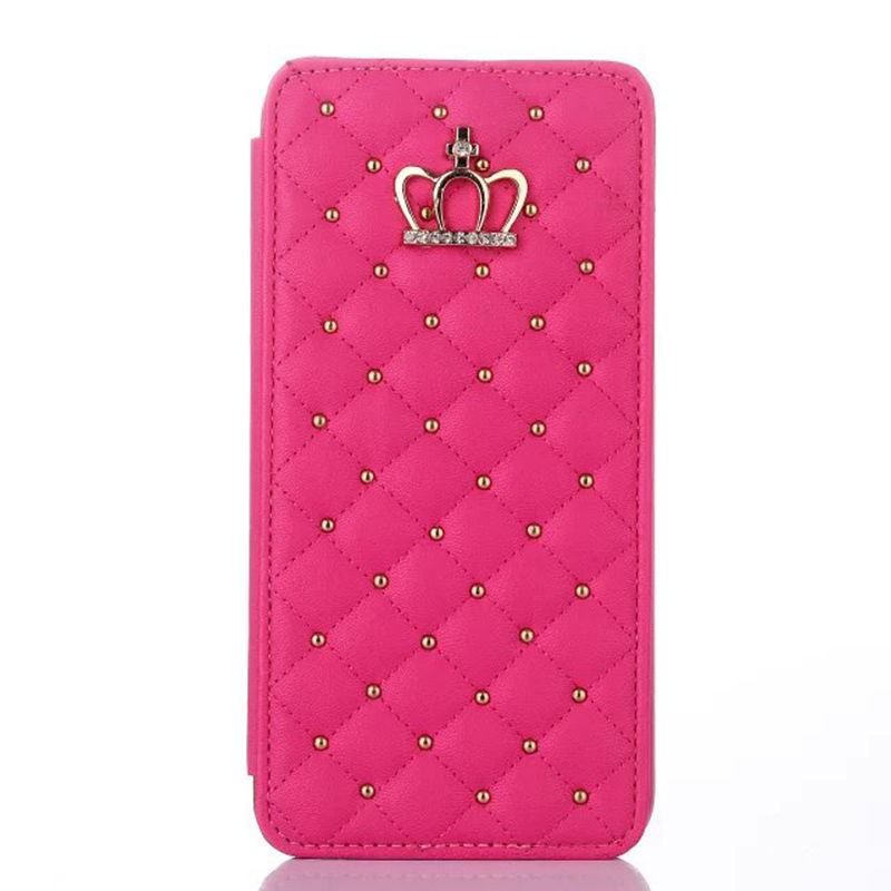 new product 221f3 6fd92 Details about Girly Bling Crown Wallet Card Flip Leather Cover Case For  iPhone 6s Plus / 6s