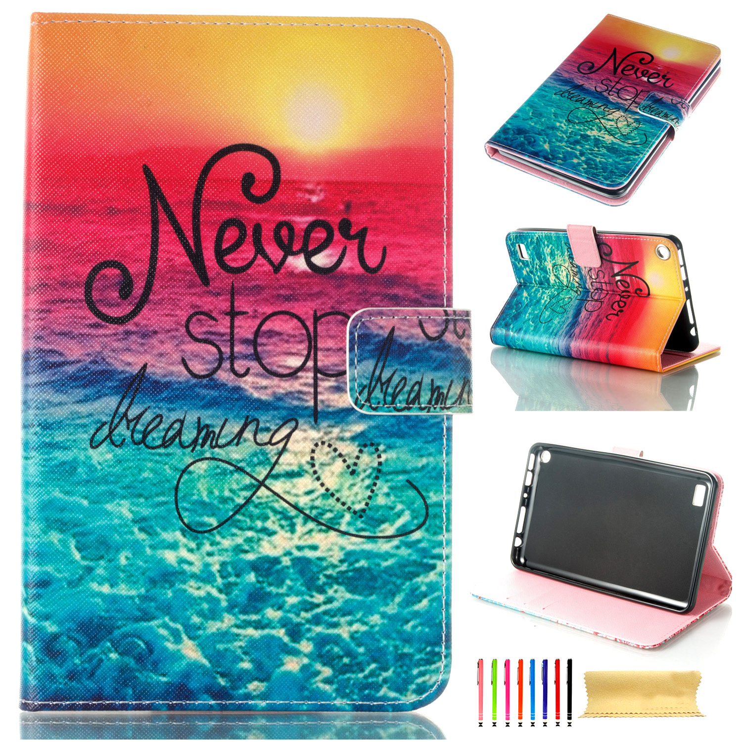 Hot design pu leather wallet case cover for amazon kindle for Amazon casa