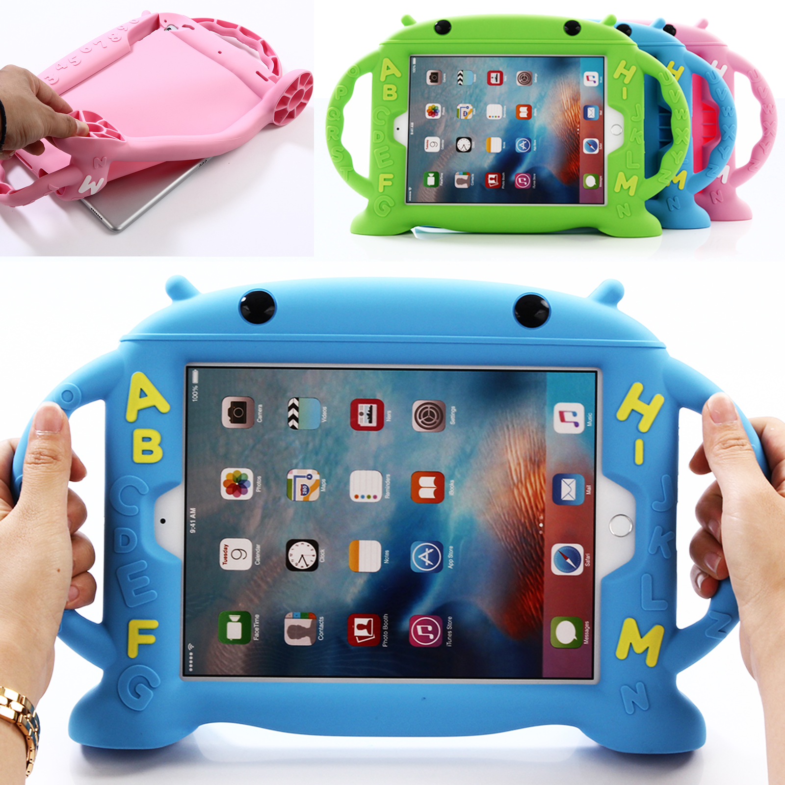 Kids Safe Shock Proof Case Handle Cover Stand For iPad Min Air 2