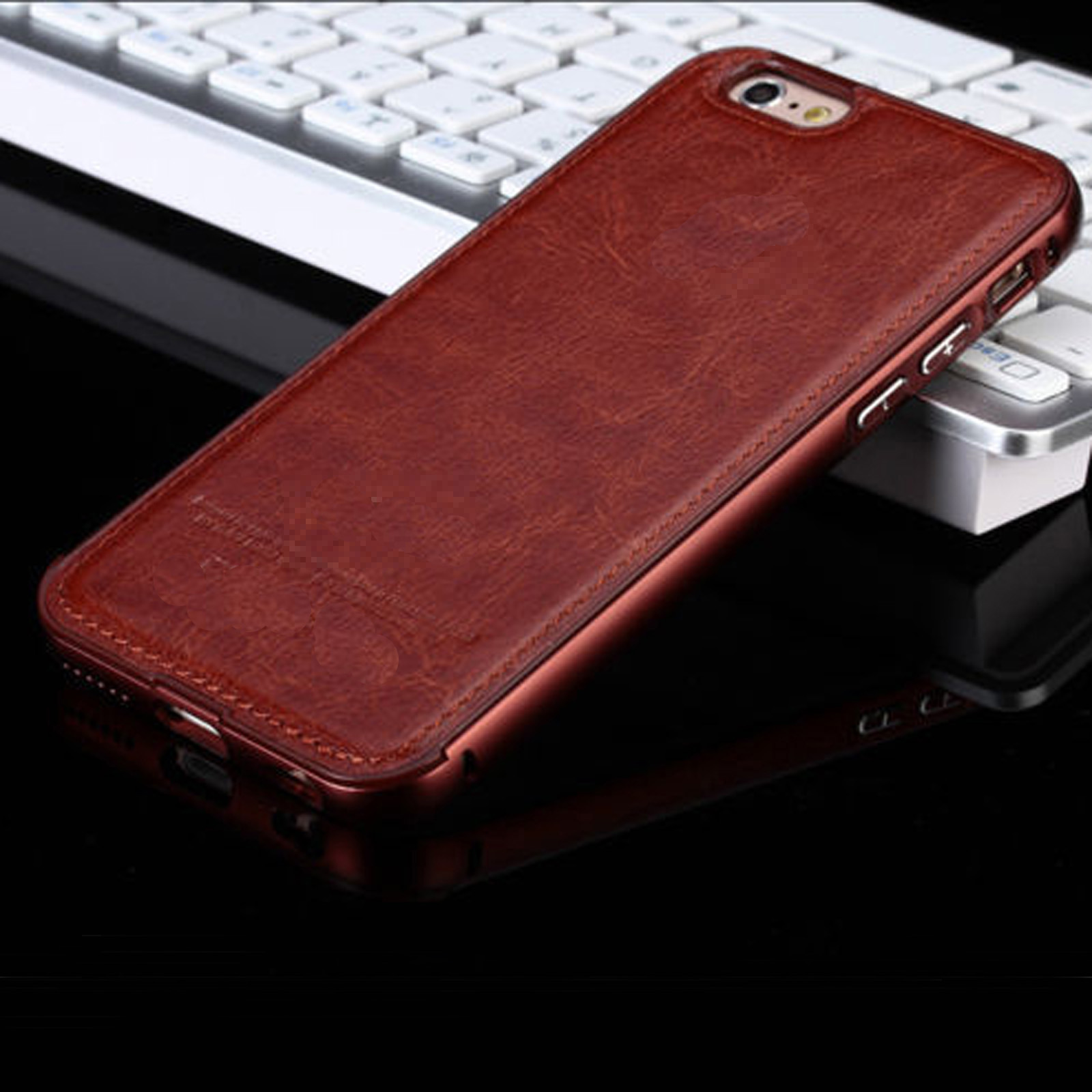 Luxury original leather back case cover for apple iphone 7 plus 6s plus 6 5s 4s ebay - Iphone 5s leather case ...