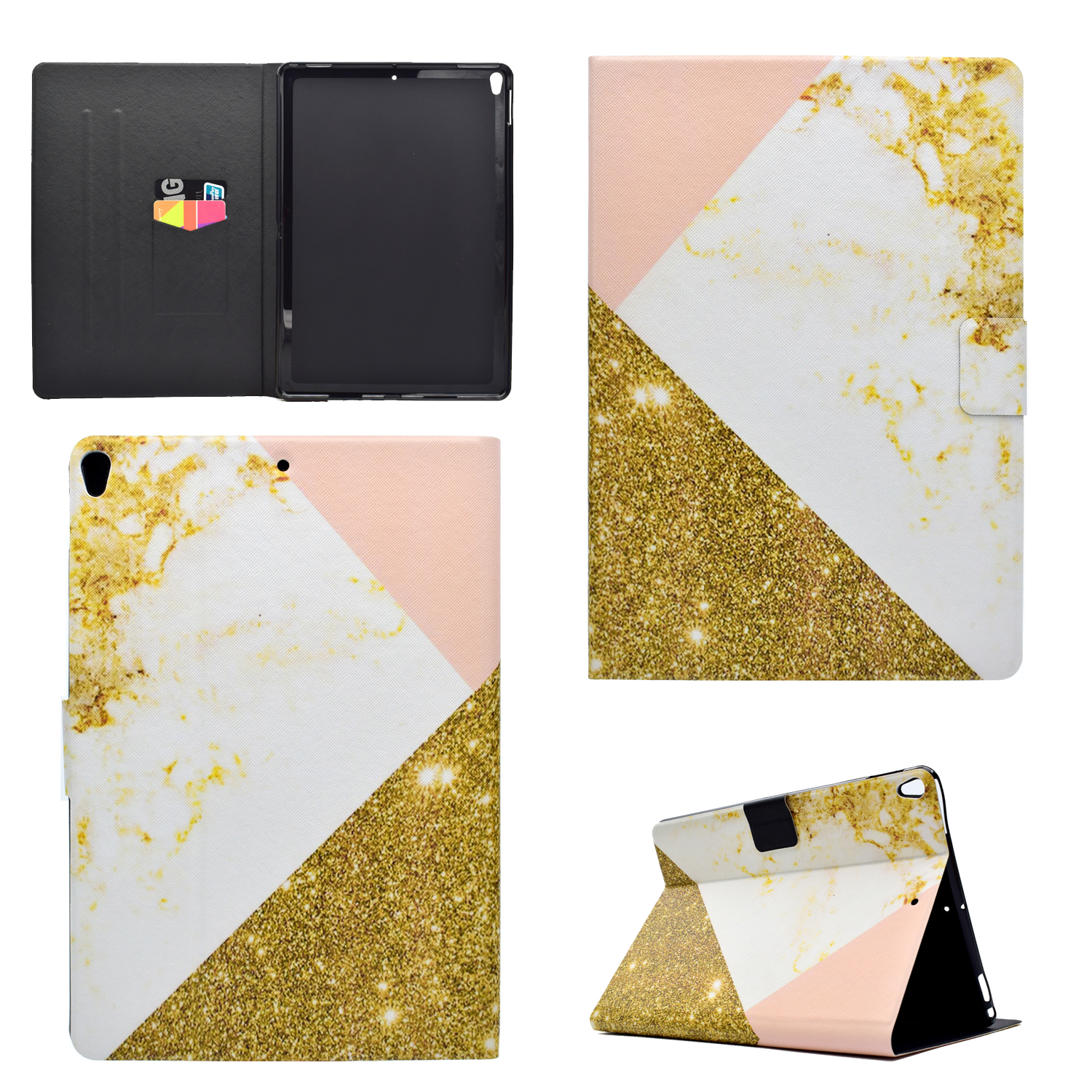 smart marble grain pattern flip leather stand case cover for ipad