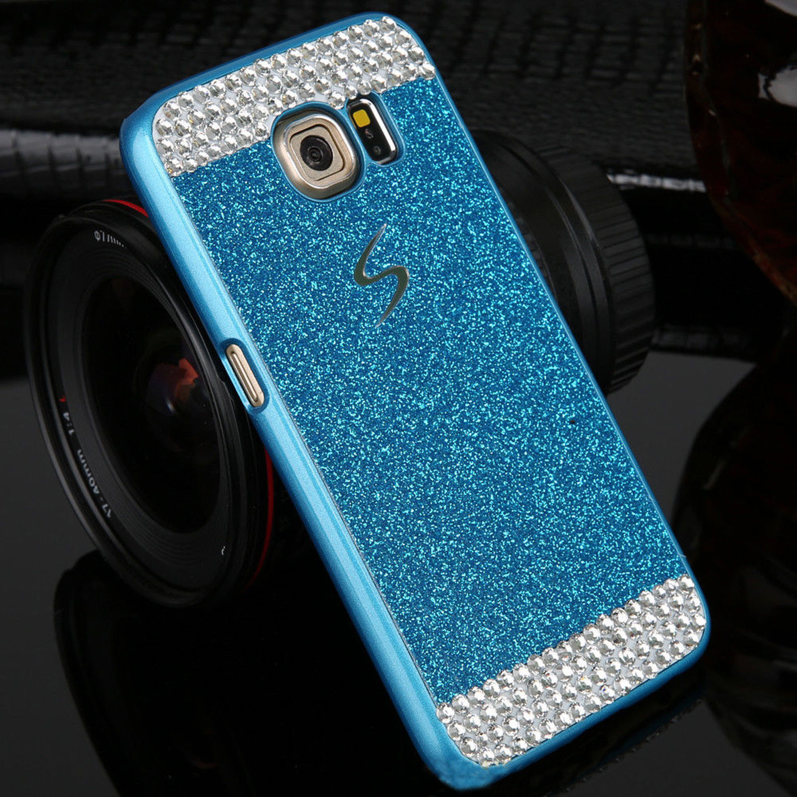 for samsung galaxy s8 plus s7 edge s7 slim bling glitter hard pc back case cover ebay. Black Bedroom Furniture Sets. Home Design Ideas