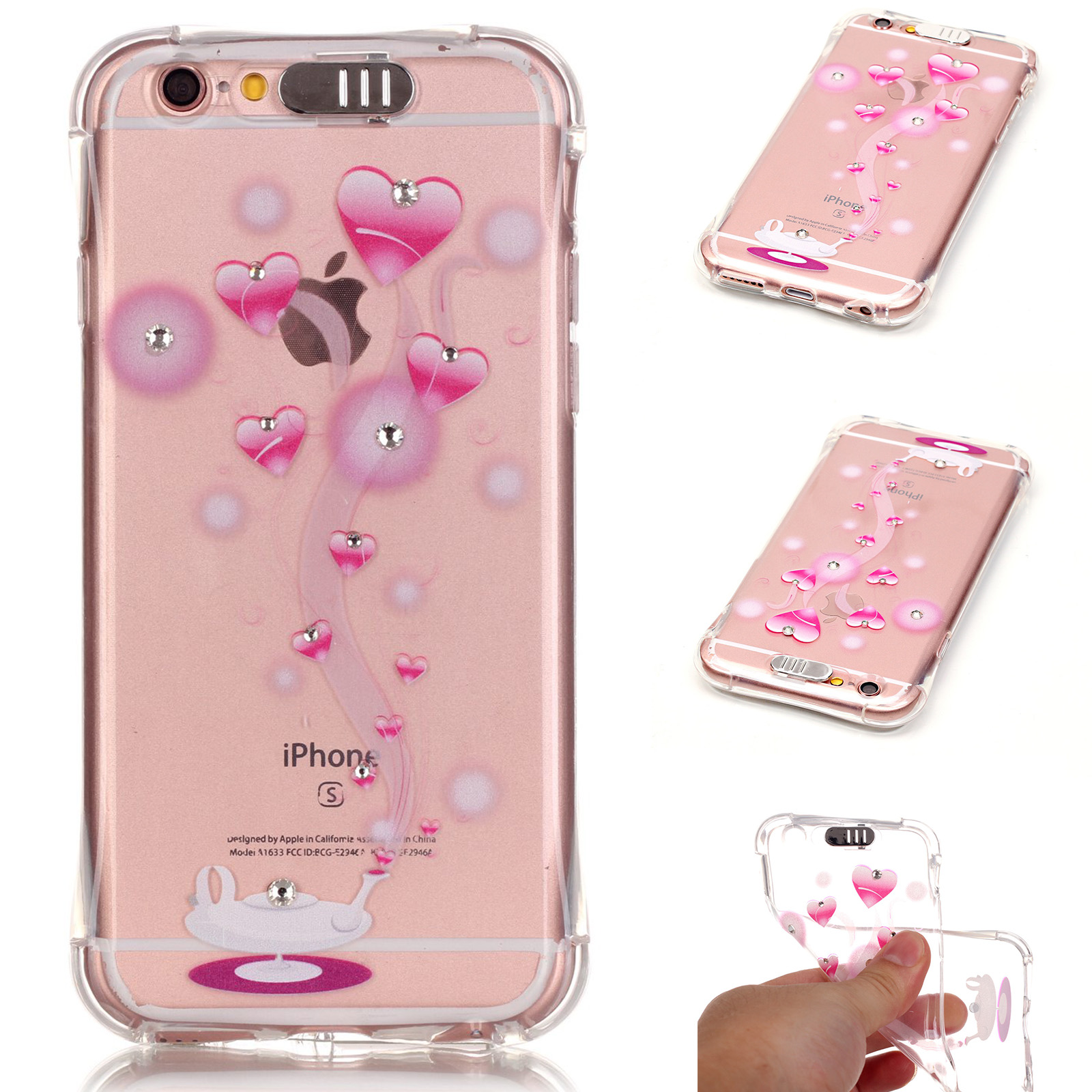 led flash lighting bling tpu case clear incoming call cover for iphone 6 6s plus ebay. Black Bedroom Furniture Sets. Home Design Ideas