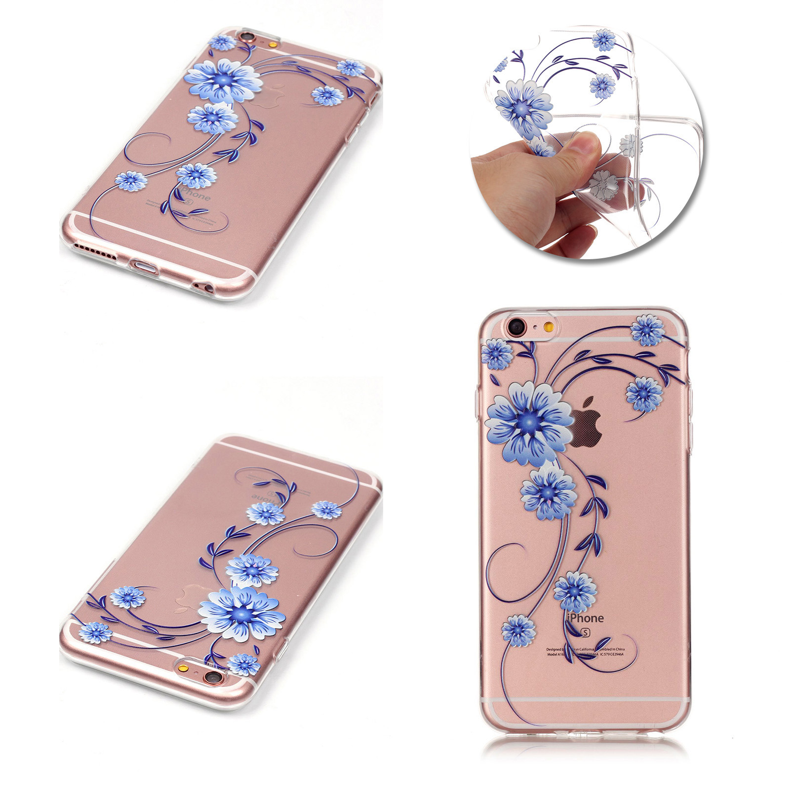 online store 0edbd 8b872 Bling Crystal Clear Transparent Hard Slim Case Cover Skin For iPhone 6 6s  Plus