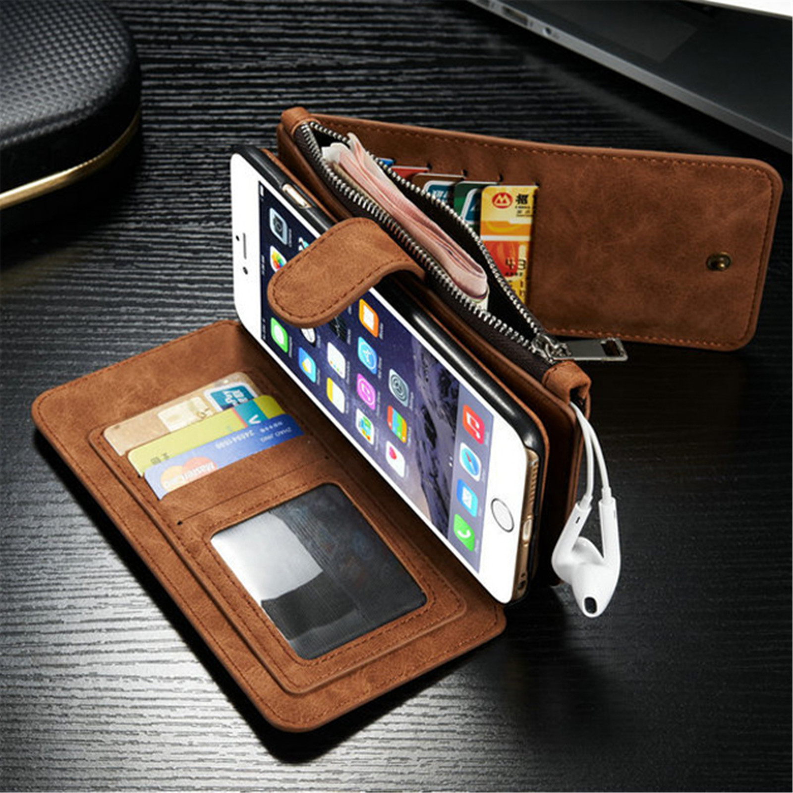 wallet for iphone 6 luxury genuine leather wallet multi function cover 3067