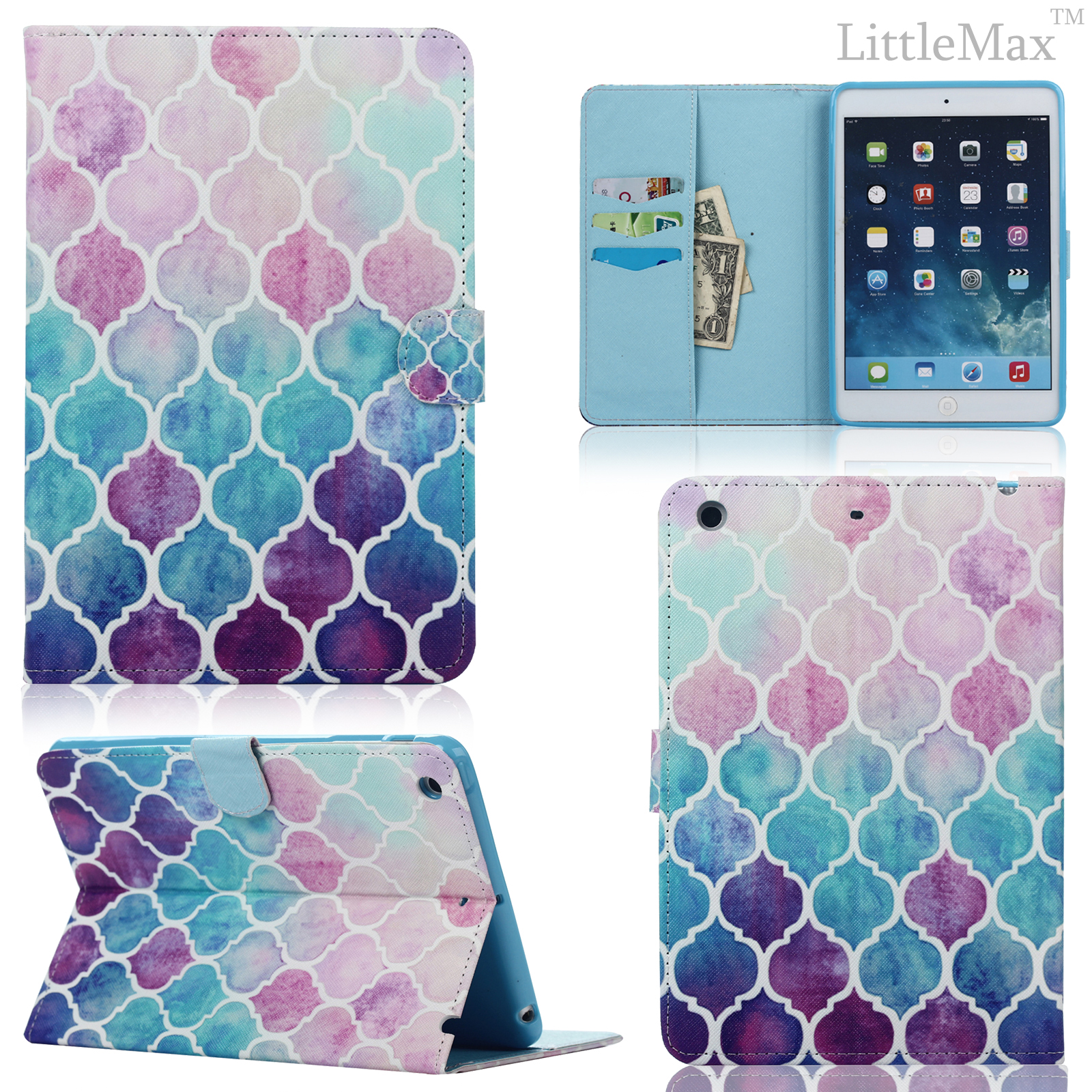 Ipad Mini Classic Book Cover ~ For ipad air mini pattern leather stand smart