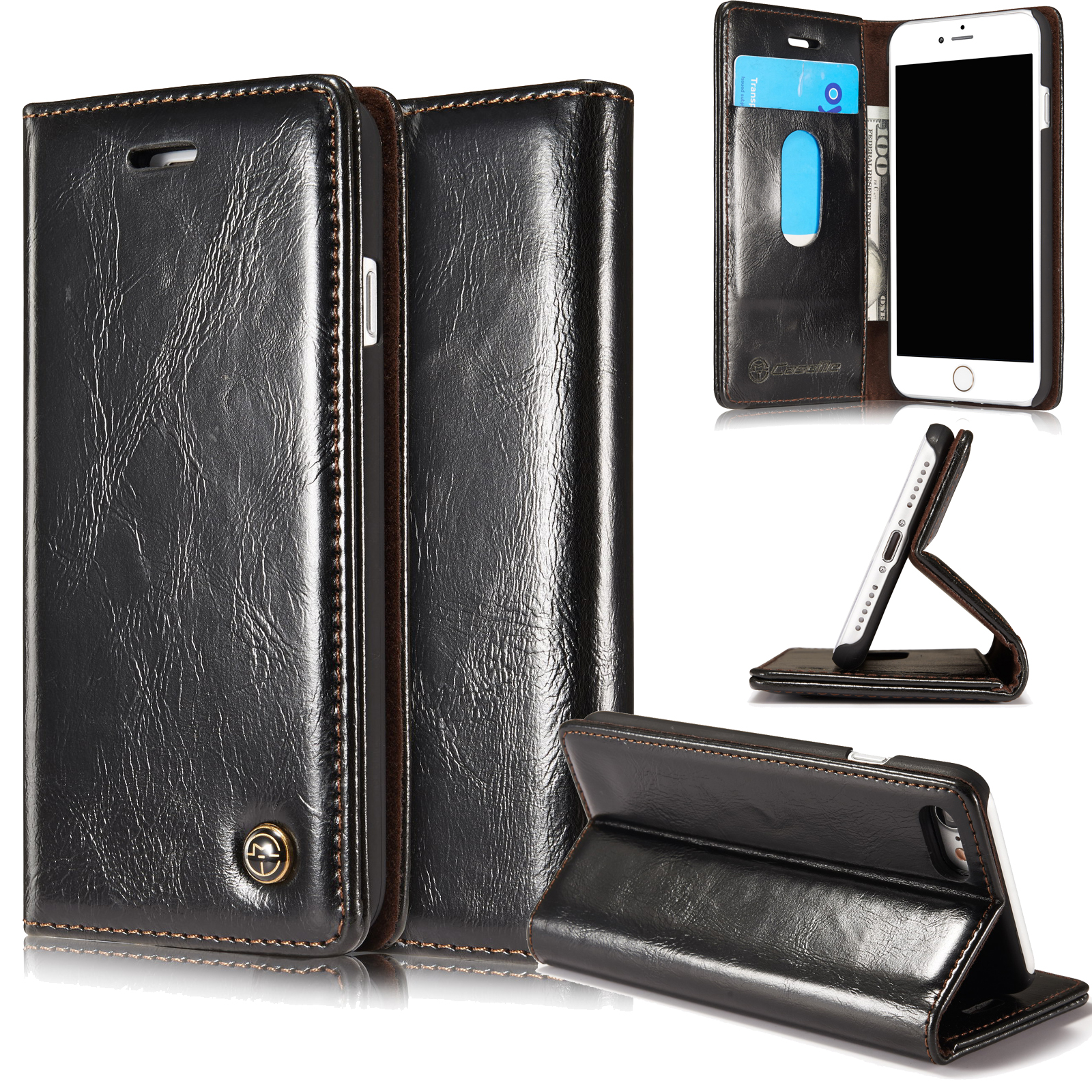 iphone 5s case with card holder luxury leather wallet card holder flip stand cover 5958