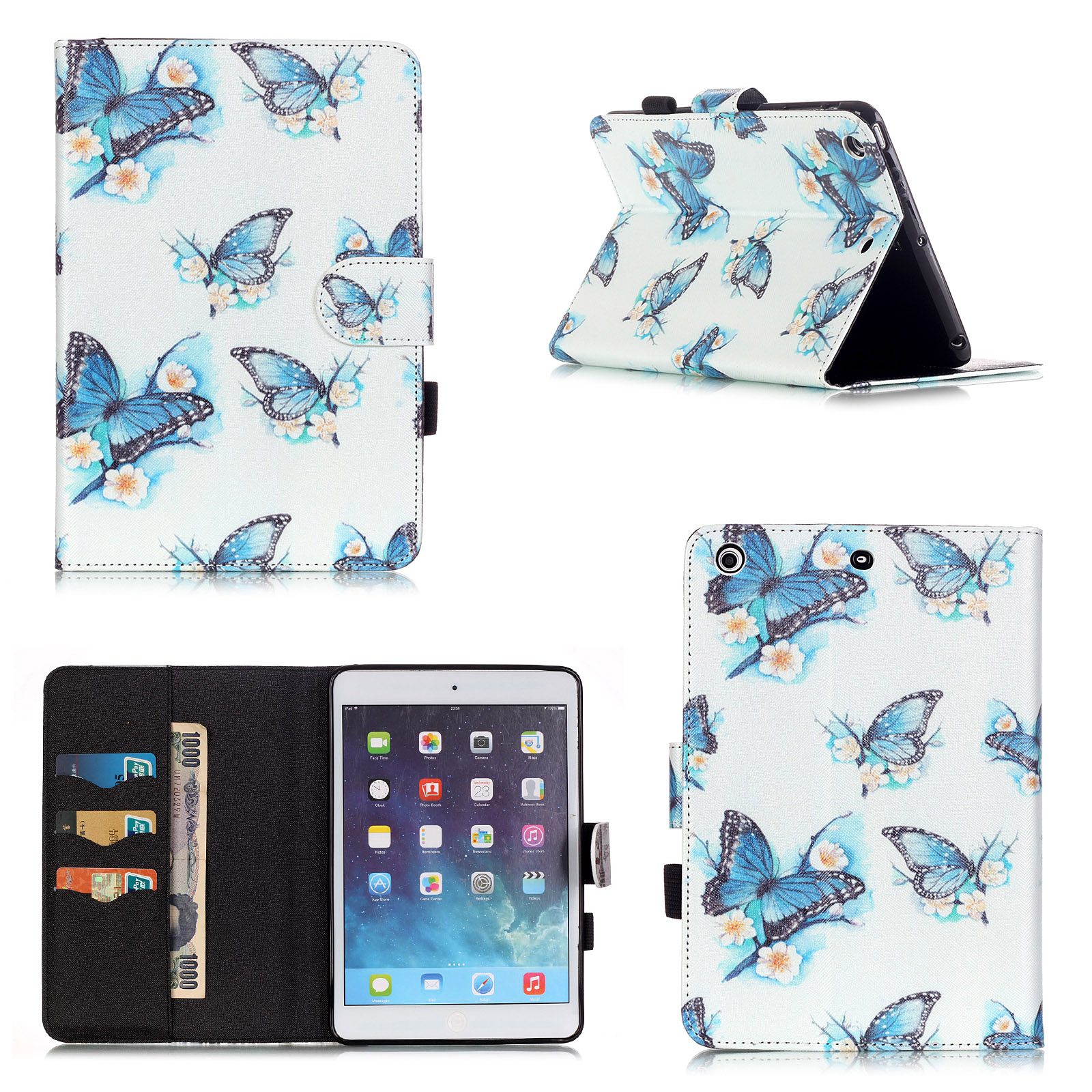 For Apple iPad mini 2 Cute Patterned PU Leather Painting ... |Cute Ipad Cases