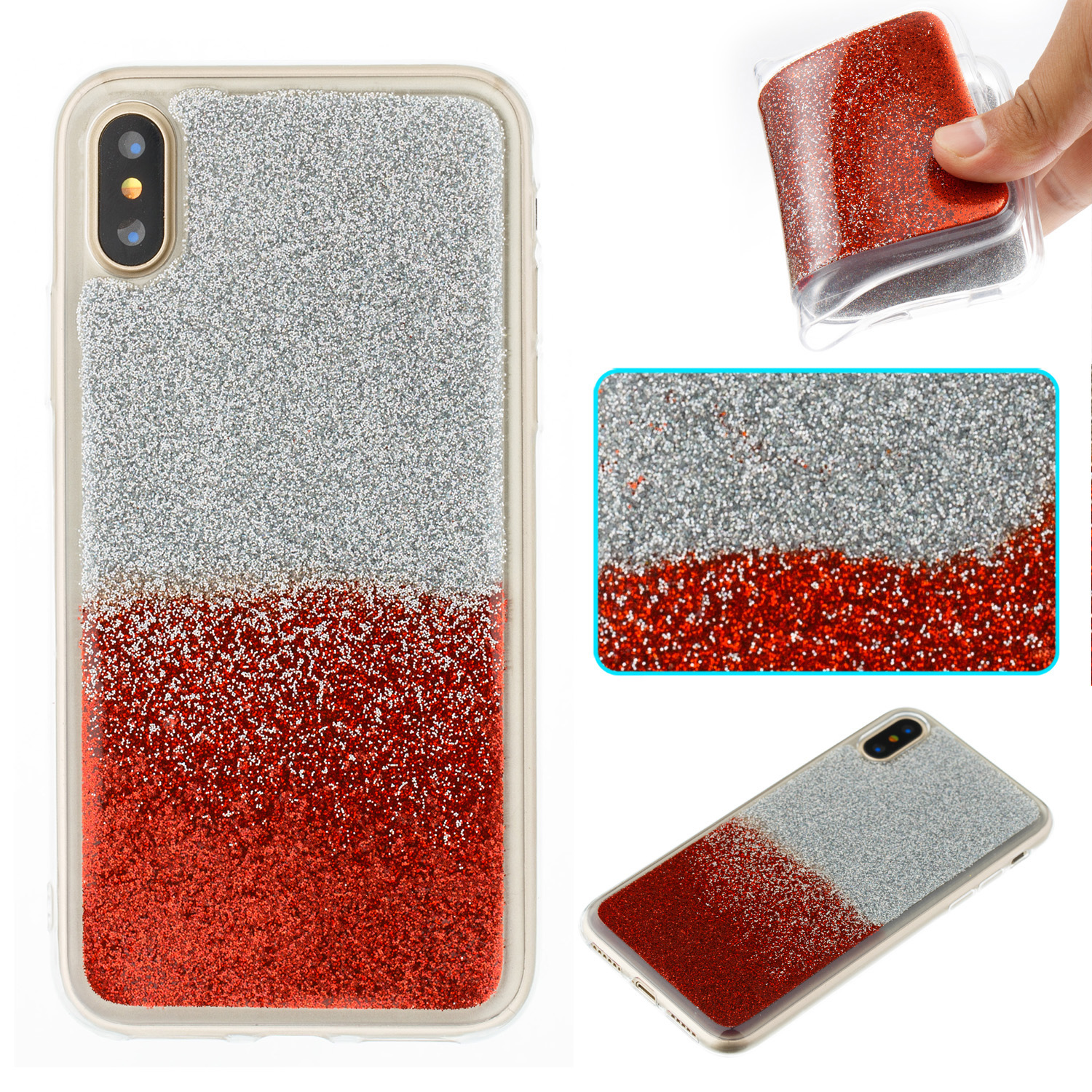 Squishy Gel Iphone Case : Bling Glitter Silicone Soft TPU Gel Phone Case Cover For iPhone X/8/7 Plus/6S/5S eBay