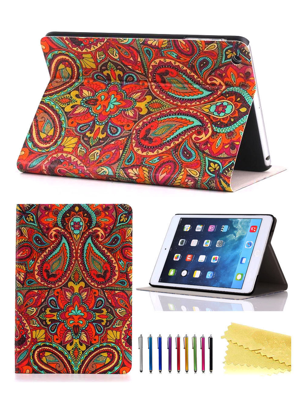 Cute Magnetic Leather Stand Cover Case For iPad 2 3 4 5th ... |Cute Ipad Cases