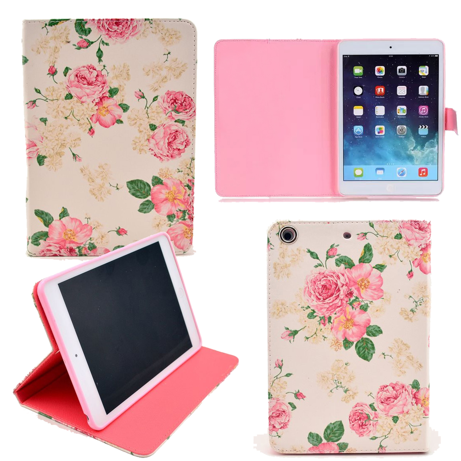 hot card wallet pattern pu leather stand case cover for apple ipad