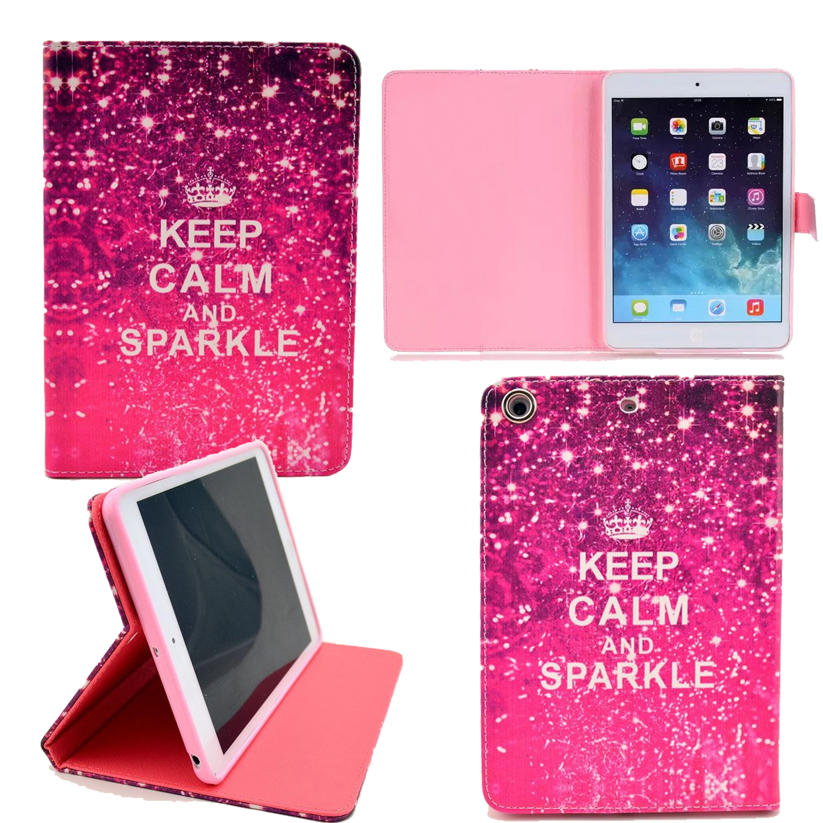 for apple ipad mini 2 cute patterned pu leather painting. Black Bedroom Furniture Sets. Home Design Ideas