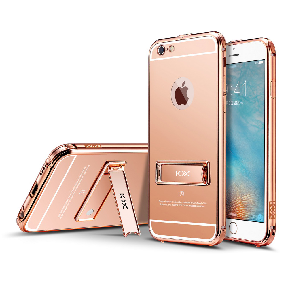 mirror iphone case luxury metal bumper frame pc mirror back cover for 3118