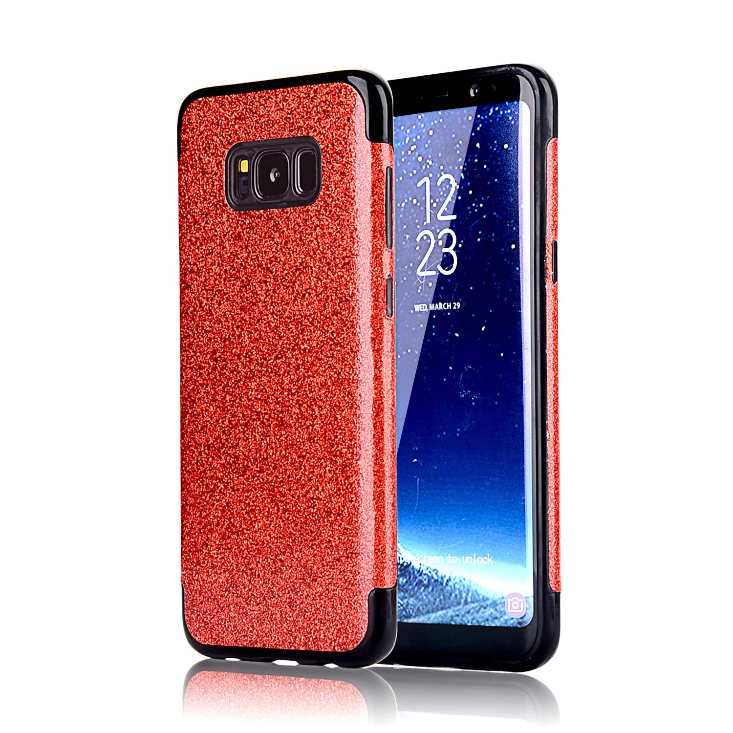 fr samsung galaxy s8 s7 s6 glitter silicone soft tpu bling. Black Bedroom Furniture Sets. Home Design Ideas