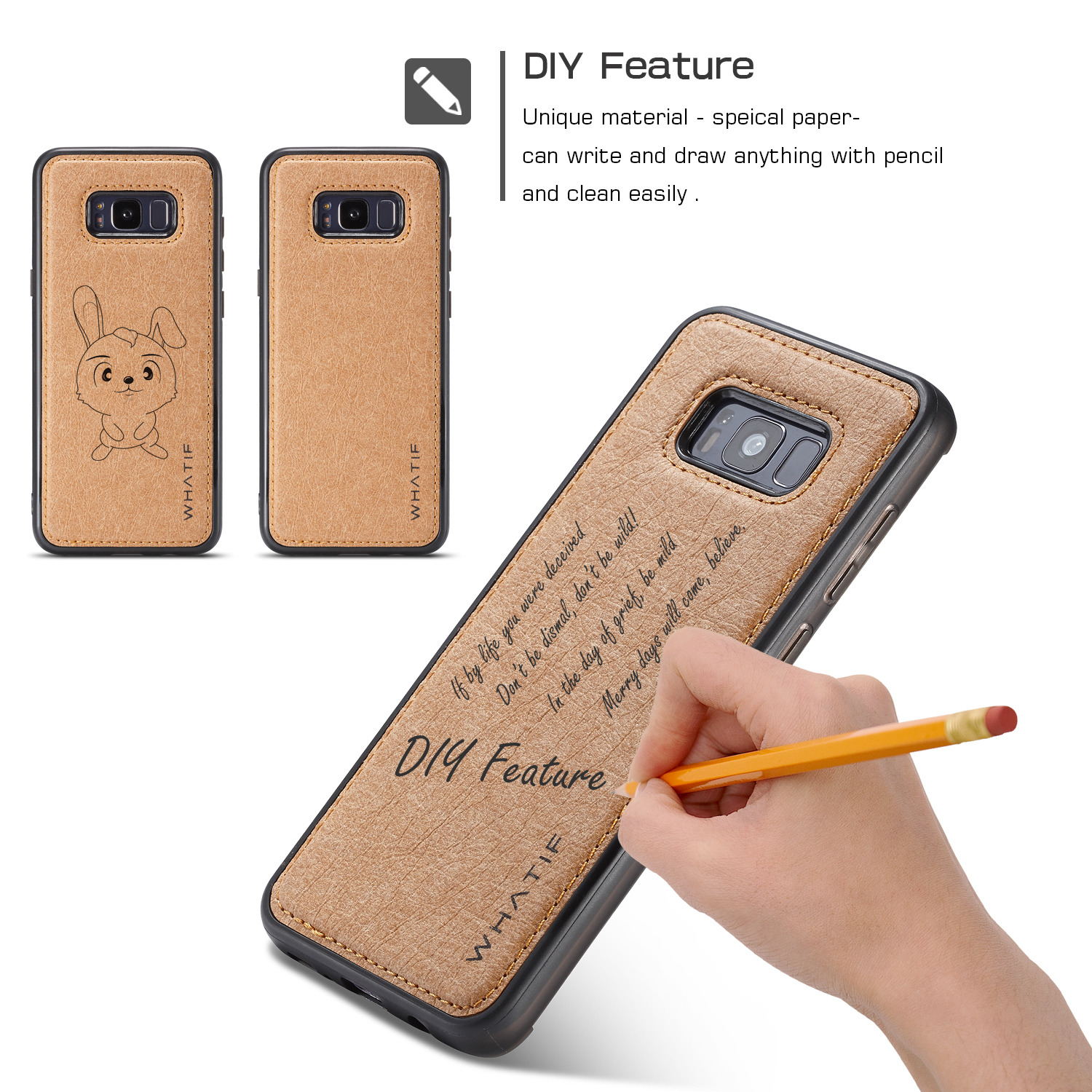 For samsung galaxy note 8 s8 plus leather slim back case for Creative iphone case ideas