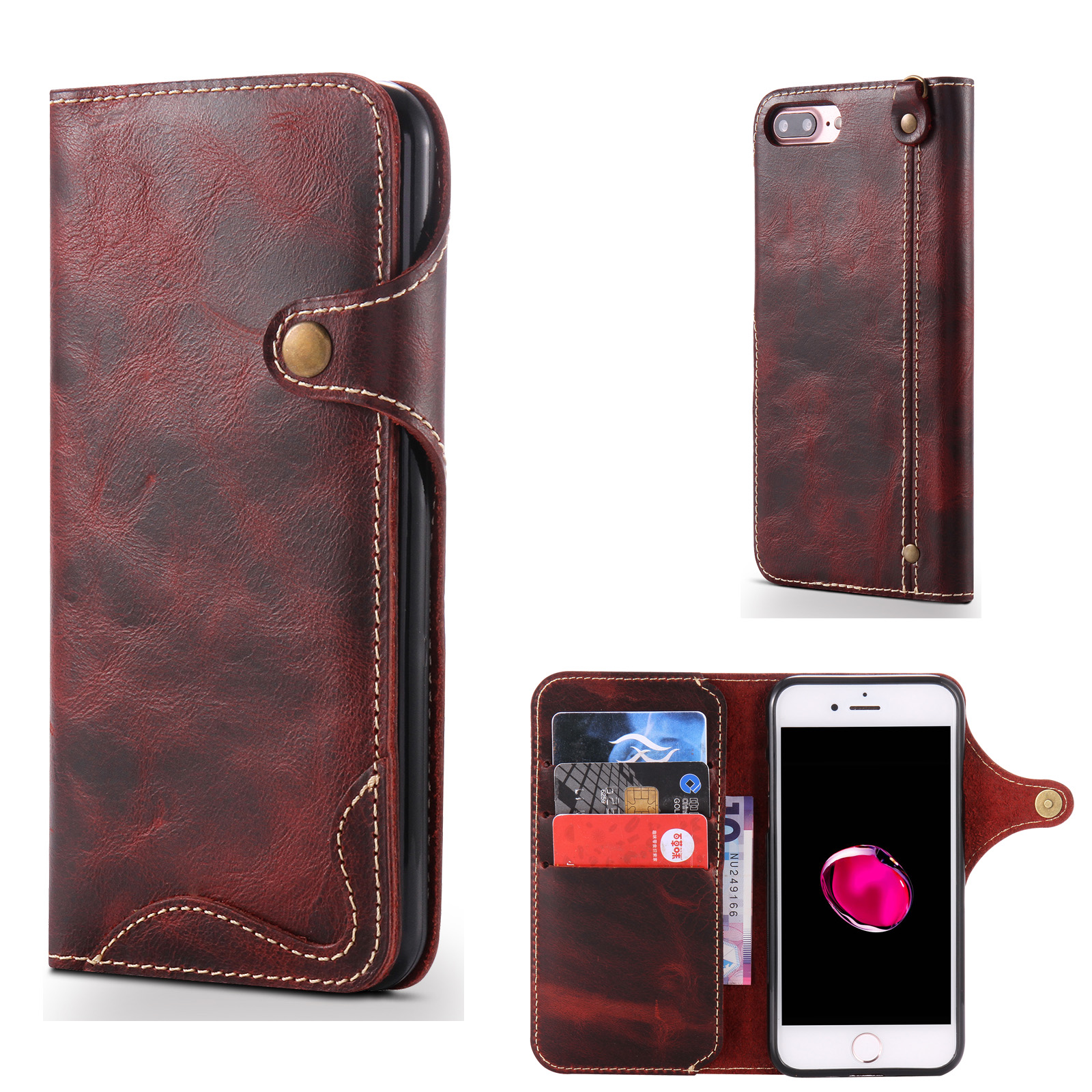 Iphone  Real Leather Wallet Case