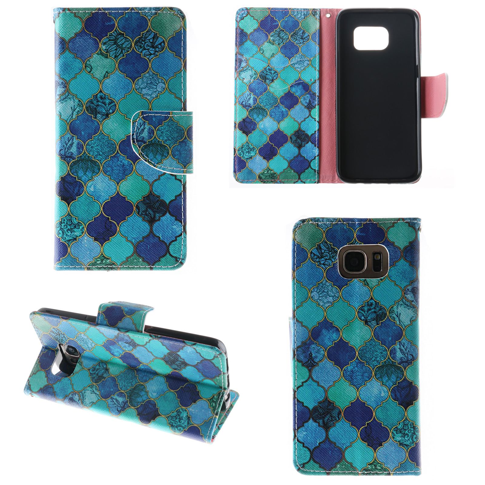 Pattern Leather Wallet Case Cover For Samsung Galaxy Grand