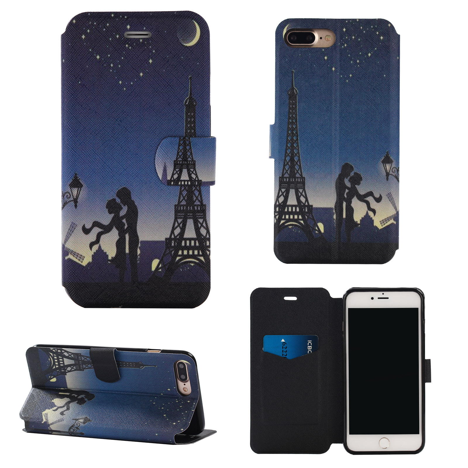 for apple iphone 7s plus 6s 5s fashion wallet stand flip. Black Bedroom Furniture Sets. Home Design Ideas