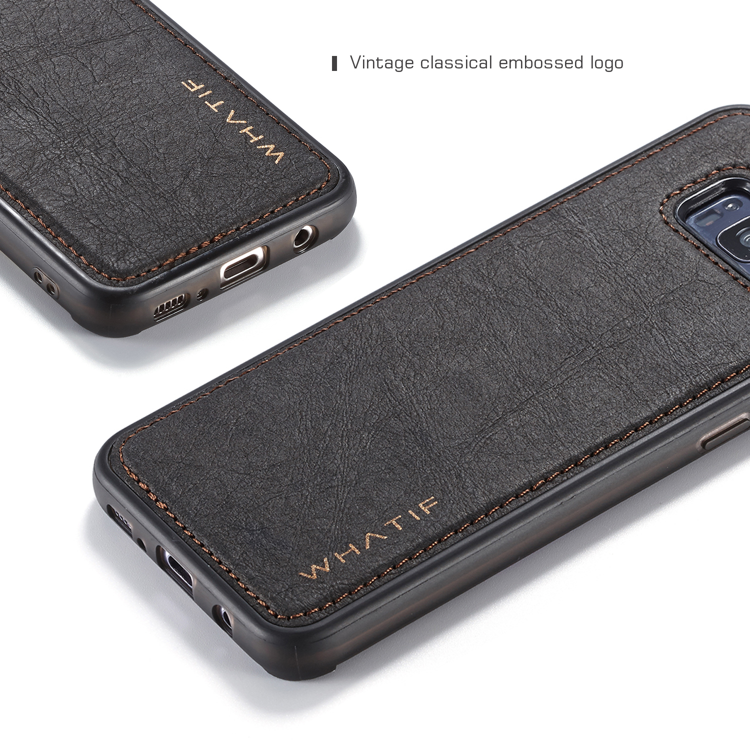 the latest 225ba 7d30c Details about Luxury Leather Strap Shockproof Back Case Cover For Samsung  Note8 S7 S9 S8 Plus